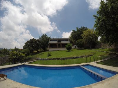 Photo for Incredible house with pool and great sunset views away from the city caos