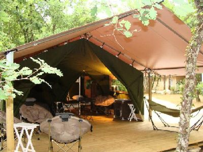 Photo for Camping Domaine de Pont Mahé *** - Tent Aloha 3 Rooms 5 People