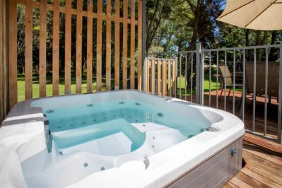Spacious Holiday Home with outdoor jacuzzi, located in private spot of the park