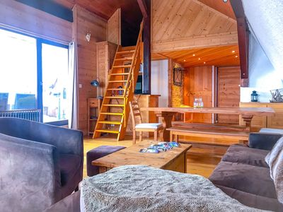 Photo for Stylish duplex facing the slopes and ski schools