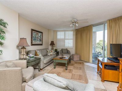 Photo for Ocean Views and Pet Friendly! Oceanfront Condominium with Pool and Boardwalk to Beach!