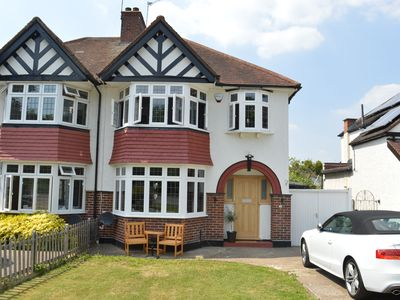 Photo for Luxury 4 Bedroom Family Home (Sleeps 9) Opposite Nonsuch Park