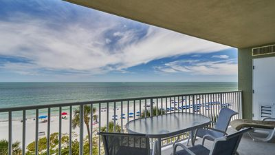 Photo for Gulf Front 3 Bedroom Condo at Sand Castle I unit 607, Enjoy FREE Wi-Fi and spectacular sunsets!