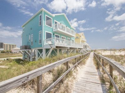 Photo for Stunning UPDATED Beachfront w/ ELEVATOR & community pool, hot tub, tennis