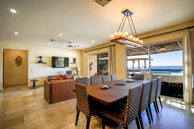 Pool and Ocean View Dining and Living Room