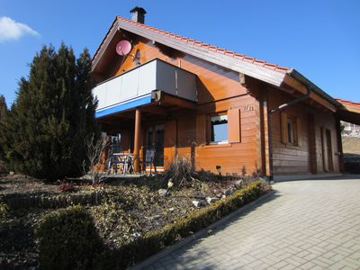 Photo for Traumhauftes log cabin in the heart of the Swabian Alb