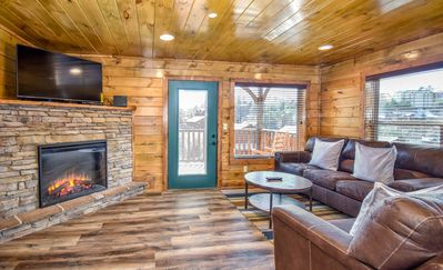 Photo for New Listing!! Brand New 5-BR Cabin ★ Amazing Location ★ Gameroom ★ Hot Tub