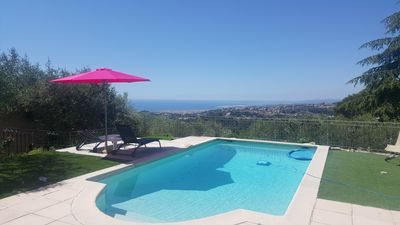 Photo for Beautiful villa with swimming pool and breathtaking and peaceful sea view
