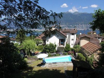 Photo for House in the center of Gambarogno with Parking, Internet, Washing machine, Pool (983371)
