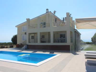 Photo for Exclusive house + swimming pool, 650 m to the sea overlooking the Aegean + Oly