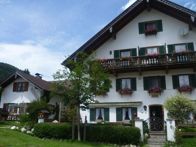 Photo for Holiday residence with three bedrooms in the midst of the Ammergauer alps.