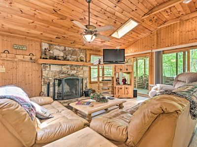 Photo for NEW! Isolated Cabin w/ Fire Pit and Forest View!