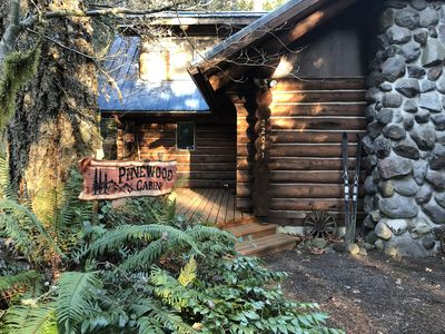 Photo for Rustic Log  Cabin W Hot Tub Near Mount Hood, Oregon