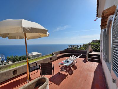Photo for Beautiful Villa with magnificent terrace overlooking the sea