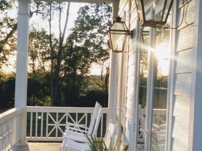 Front porch, rocking chairs, southern view, gas lights, fresh country air.
