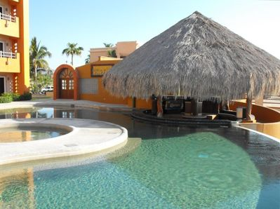 Daytime at Pool and Palapa