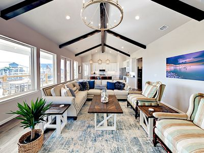 Living Area - Welcome to City By The Sea! This canal-front home is professionally managed by TurnKey Vacation Rentals.