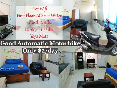 Photo for $2/day Motorbike - First Floor - TV with Netflix