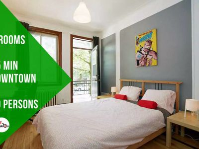 Photo for Jimmy Apt, 10 pers, 20 min downtown, 5 bedrooms