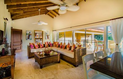 Photo for Country club 3BD villa, guest friendly, fully equipped, private pool, tennis!