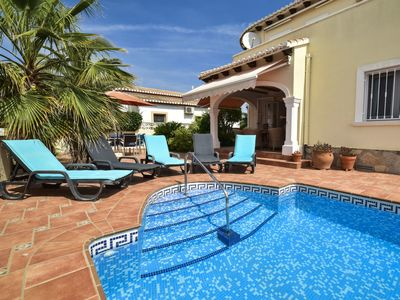 Photo for Stunning private villa for 4 guests with private pool, WIFI, A/C, TV, balcony and parking