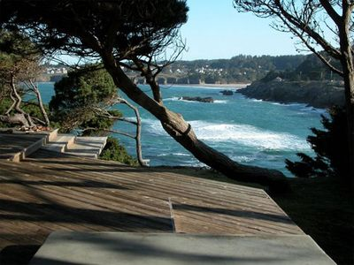 view from back deck or Mendocino bay - view from back deck or Mendocino bay