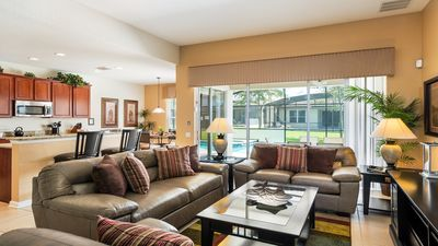 Photo for 2 Miles From Disney, South Facing Pool, Private Pool/Spa, Game Room!