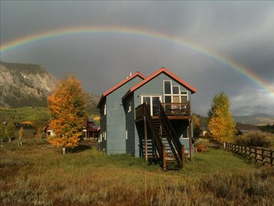 Photo for Beautiful Home on the Slate River! Amazing views from all directions! Only 10 min from skiing!