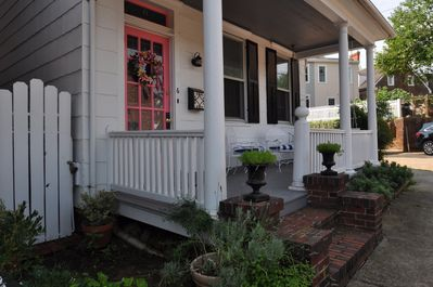 Come watch the world go by on the happy porch