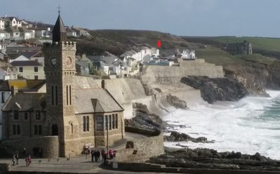 Photo for Porthleven clifftop property with spectacular sea views, quiet location