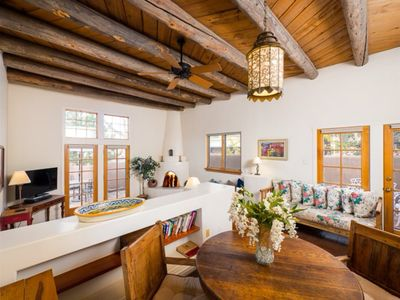 Photo for Light-Filled Historic Home, Walk to The Plaza and Canyon Road, Elegant Stylish