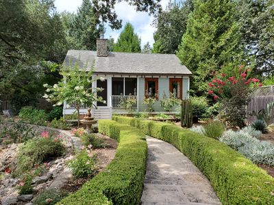 Photo for Secluded, peaceful  East side wine country guesthouse with working vineyard