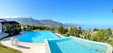 Photo for AL011 Villa with pool and stunning sea view, with parking