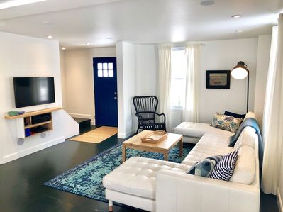 Walk into an open concept space