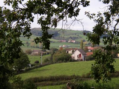 View from  garden across the Sioulle valley