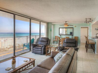 Photo for SEACHASE! 1st Floor Condo w/60' of Gulf Front Glass! Remodeled Kitchen_BEACH CHAIRS & Small Dogs OK!