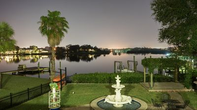 Photo for Spacious Waterfront Home - 4BR/4BA, sleeps 8, Pool, Private Dock, Pool Table