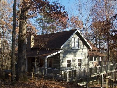 Photo for OKTOBERFEST SPECIAL FOR REAL LOG CABIN NEXT TO HELEN - Beautiful 3 bed real Log