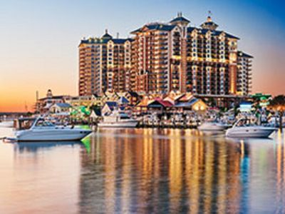 Photo for Wyndham Vacation Resorts Emeral Grand At Destin ---- By entrance of Harbor Walk