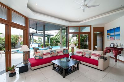 spacious lounge with large windows