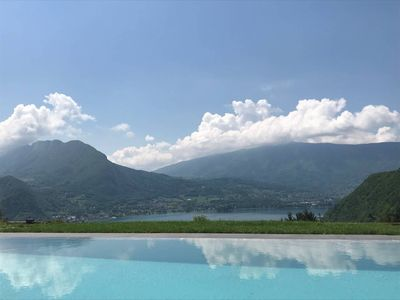 Photo for Talloires - Magnificent glass and wooden villa - lake view: Villa Germain
