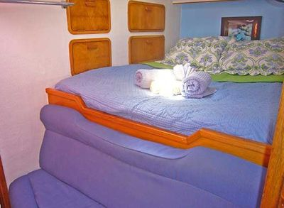 Our Forward cabins with queen sized beds