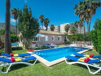 Photo for Port d'Alcudia Holiday Home, Sleeps 6 with Pool and Air Con