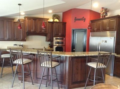 Massive Kitchen with ample seating and dual fridge/freezer