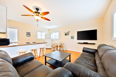 Welcome to the great room with everything you need to enjoy your time at home in between your various adventures.
