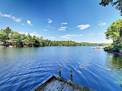 Location - Secluded lakefront retreat with dock on West Harbor Pond, which is an ideal location for swimming, kayaking, canoeing and fishing.