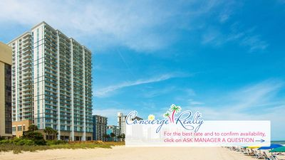 Photo for Modern one bedroom suite at Ocean 22 by Hilton, oceanfront resort. Book now!