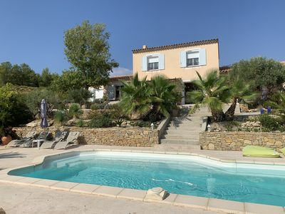 Photo for Provencal style apartment leaned to the mass with pool, panoramic sea view