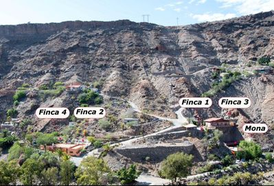 all Fincas to be seen from the opposite side of the barranco