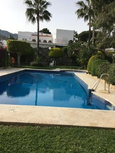 Photo for Very well equipped, pretty 2 bedroom ground floor apartment, 500 m from beach